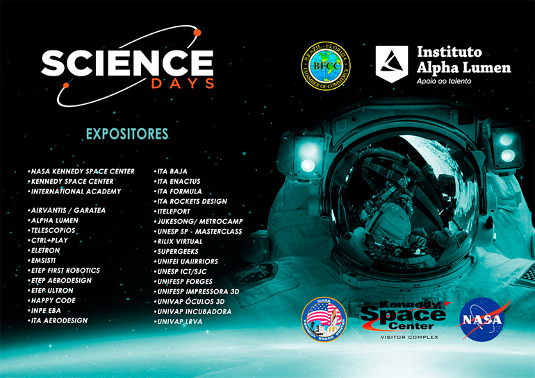 Expositores Science Days 2017